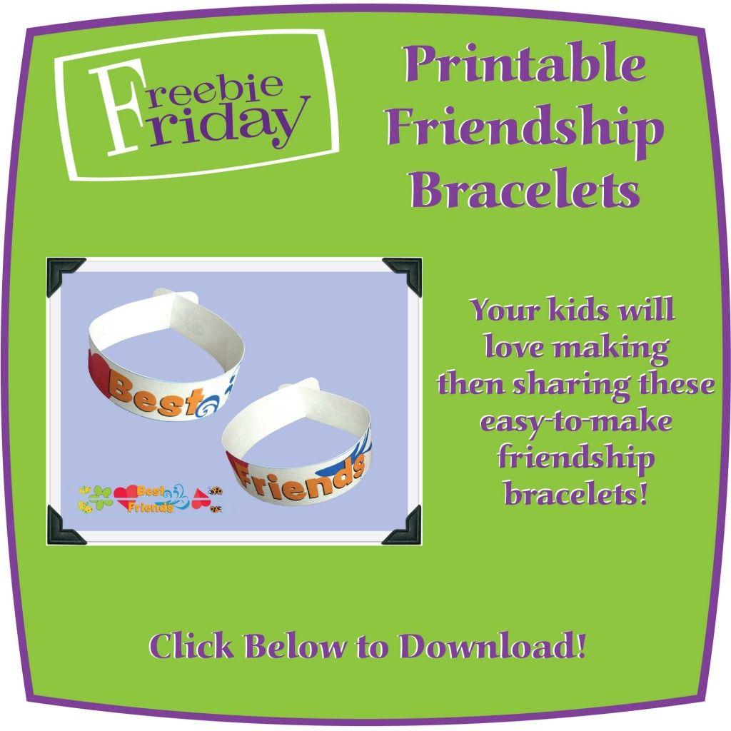 Printable Friendship Bracelets