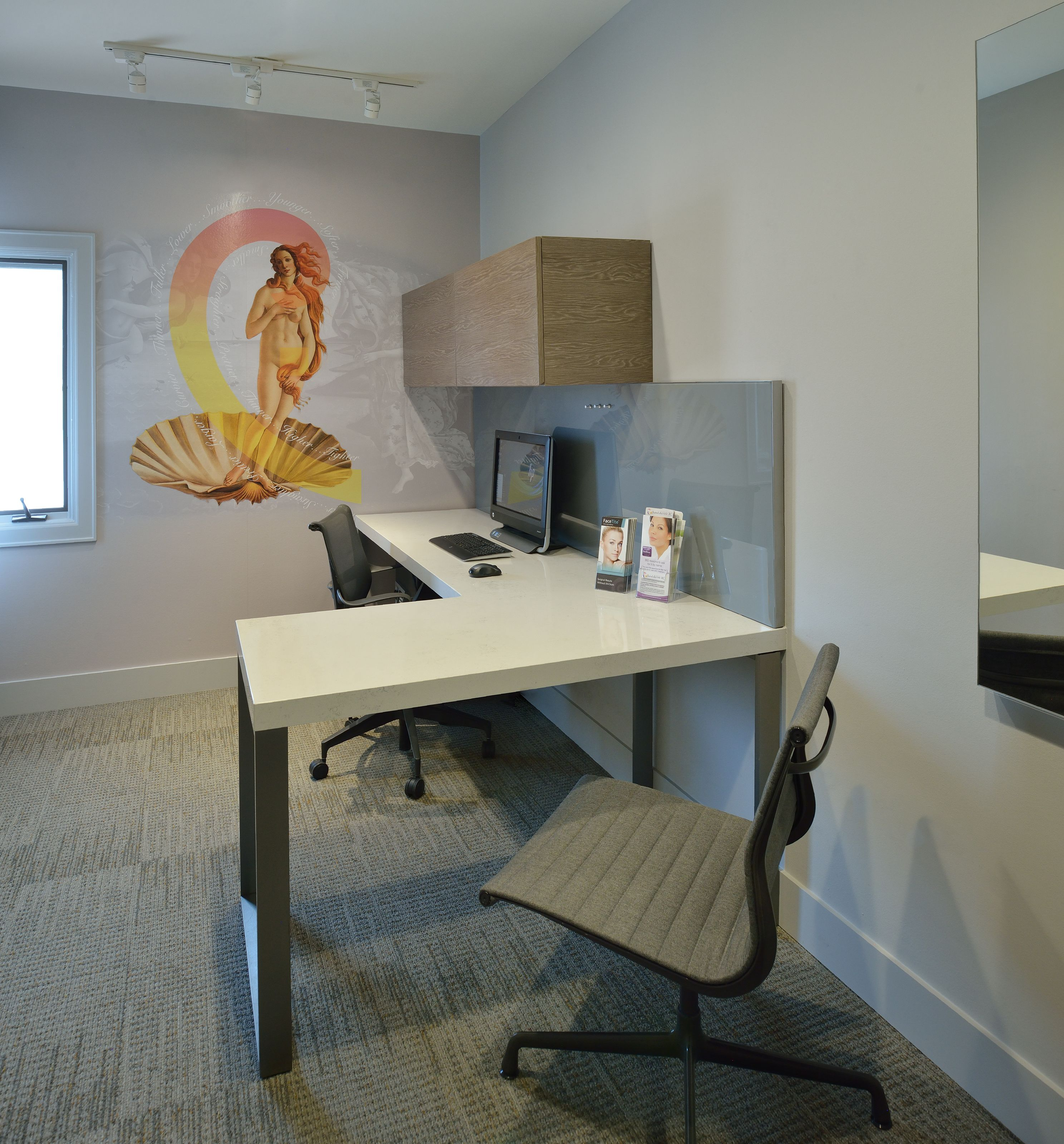 Consultation office of a plastic surgeon cosmetic office designed by wendt design group llc www