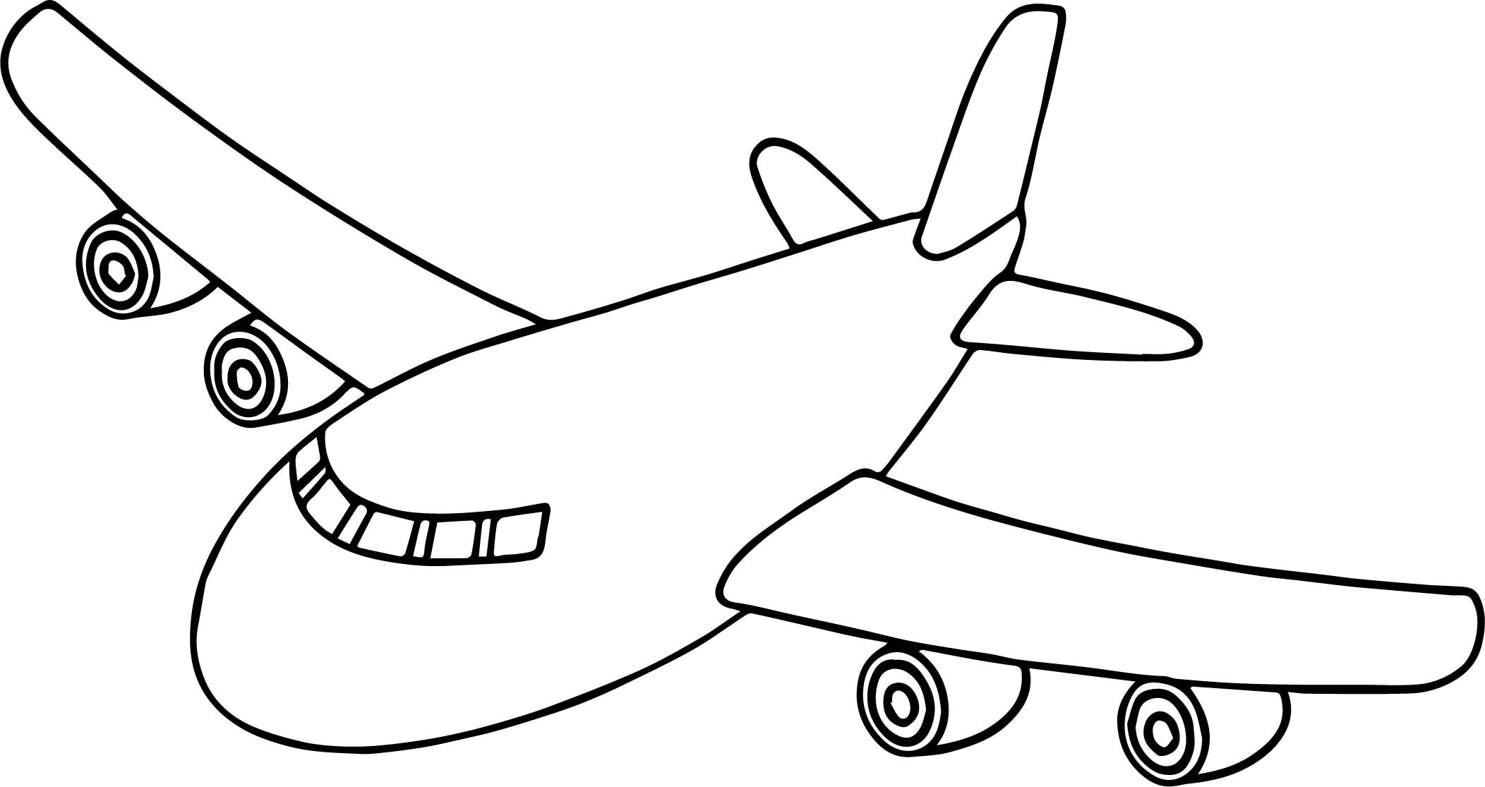 Front Airplane Coloring Page Airplane Coloring Pages Cartoon