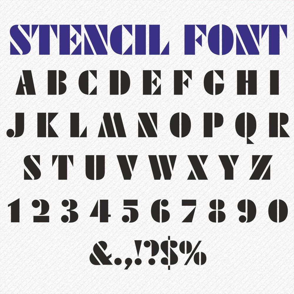 STENCIL Letters Svg Dxf, Eps, Png, Stencil Monogram Font