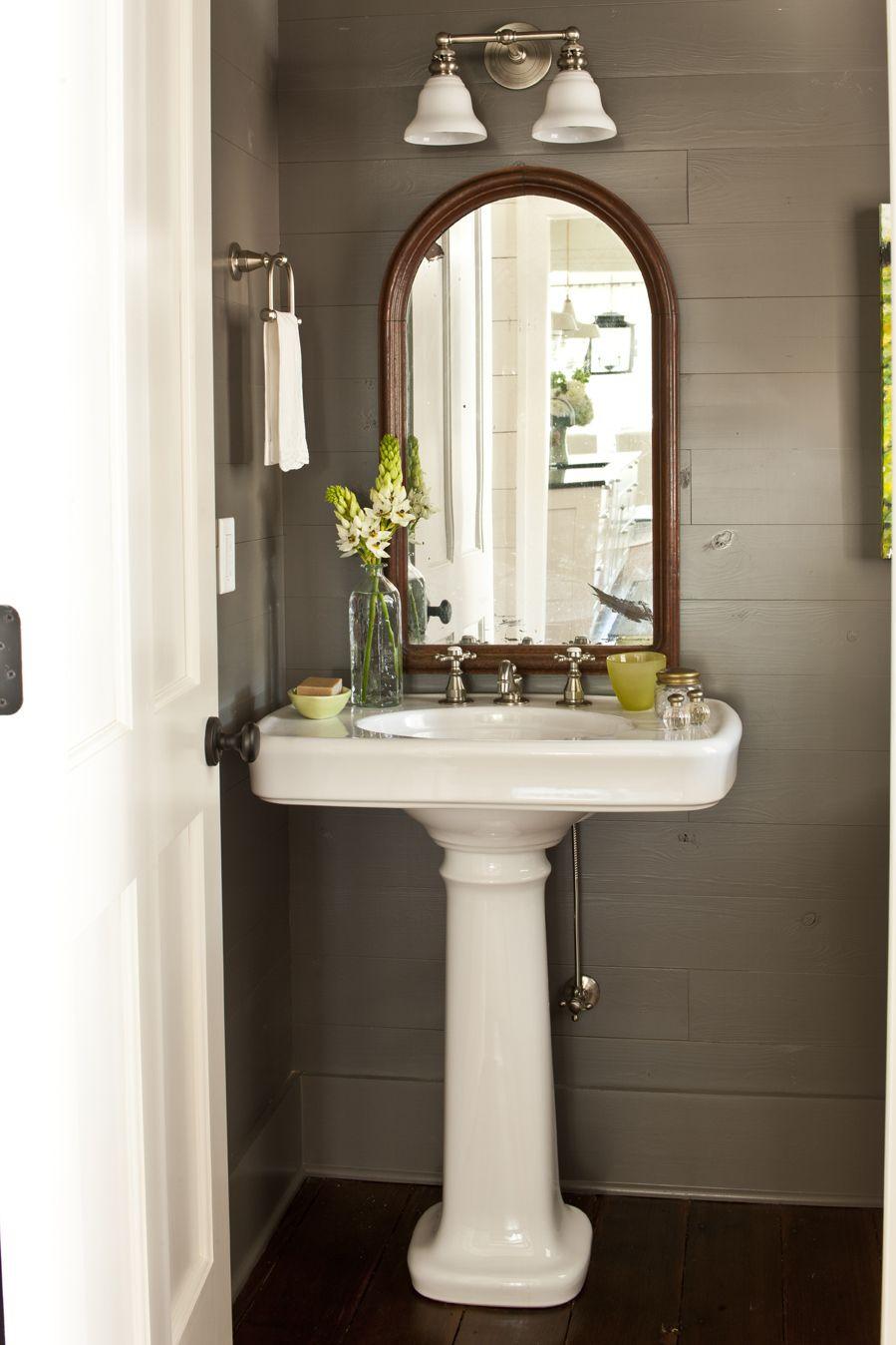 Lighting Basement Washroom Stairs: Mirrors And Lights. ? Under Stairs Bathroom