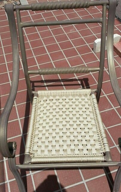 Macrame Your Patio Chair My Finished Project Macrame