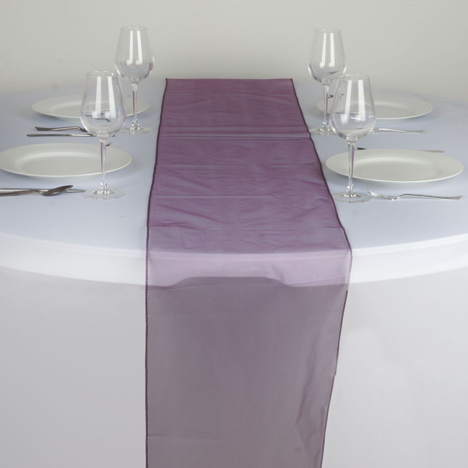20 Pack Sheer Organza Table Runner Wedding Party Banquet