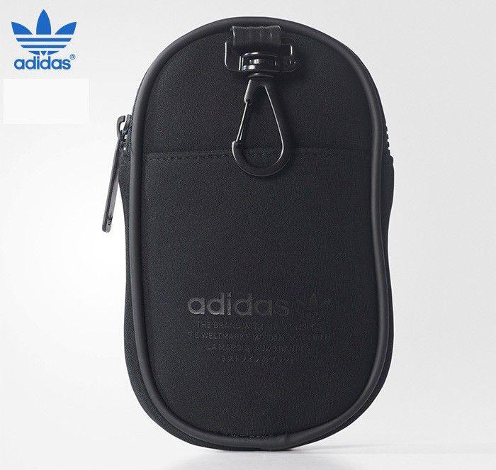 1099eff44 adidas Originals NMD Pouch Bag Mini Black Zipper Pocket 3 Stripes Golf  BR9185  adidas  FannyWaistPack