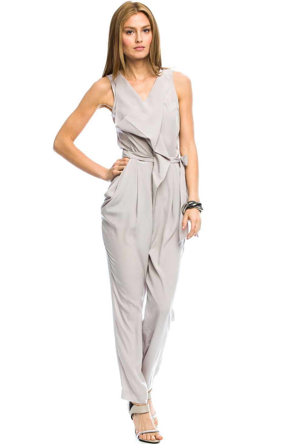 e90dad6eae94 Cowl Neck Jumpsuit - Jumpsuits - Womens - Armani Exchange Online Clothing  Stores