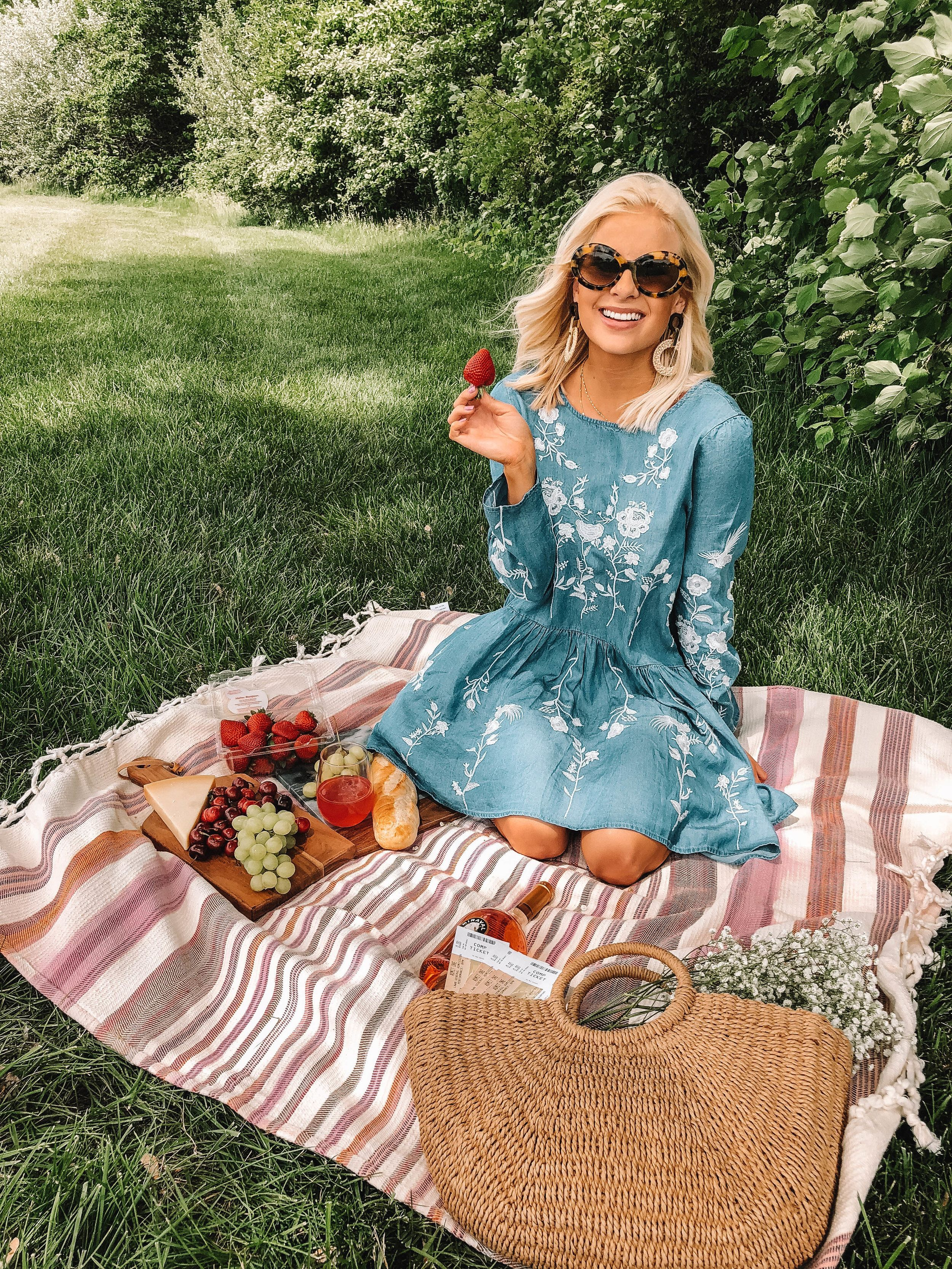Summer Picnic And Kroger Symphony On The Prairie Lemon Blonde Picnic Outfits Picnic Photography Summer Photoshoot [ 3333 x 2500 Pixel ]