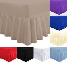 Single Double King or Super King FIT OVER MATTRESS King Valance Sheet, Soft Pink Rohi Valance Sheet 100/% Combed Polycotton OEKO-TEX/® Standard 100 Certified Product Frilled Design
