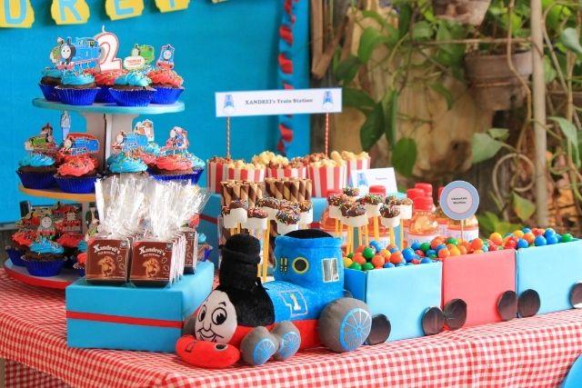 Thomas the Train party Birthday Party Ideas Thomas train birthday