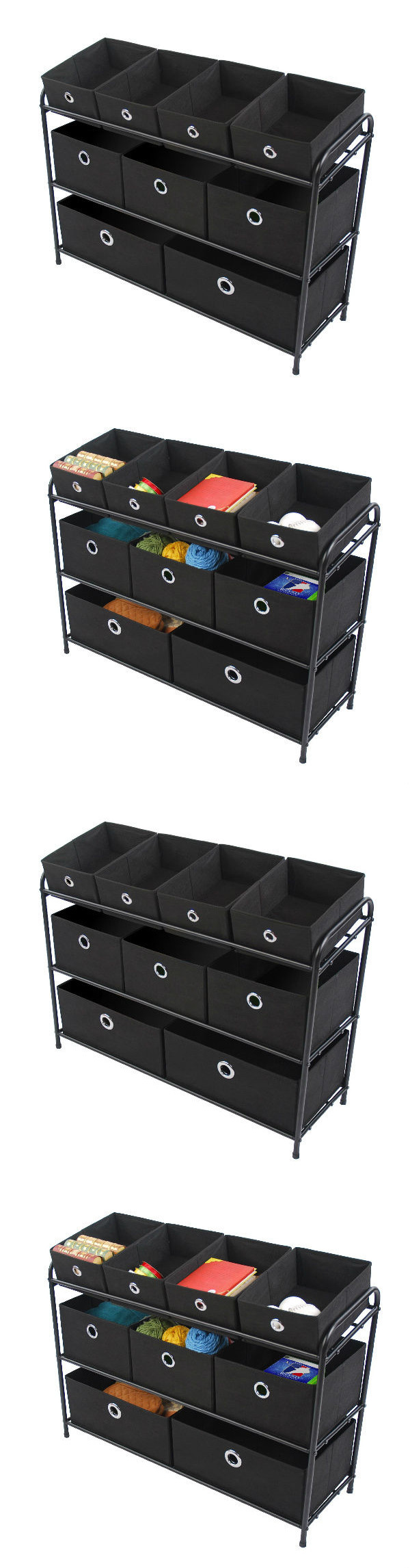 Storage bins and baskets multi bin storage organizer toy