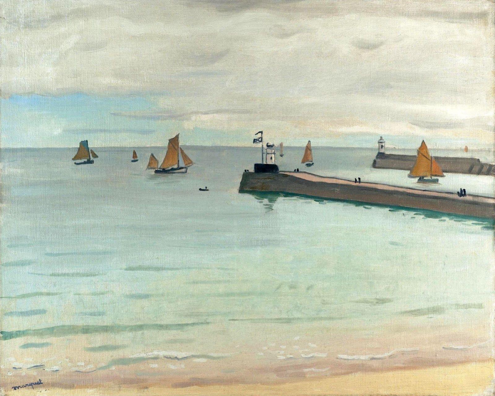 Albert Marquet - Entrée du port Les Sables d'Оlonne (1921)