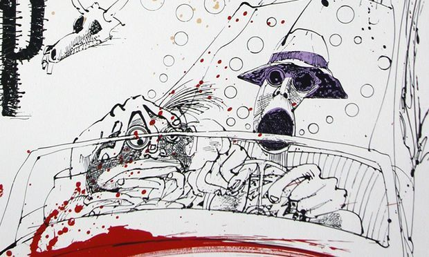 Image result for fear and loathing in las vegas cover art