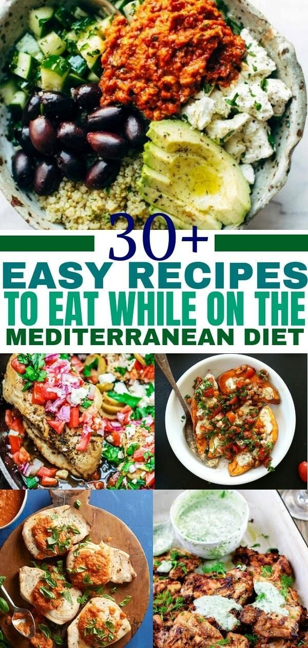Photo of Mediterranean diet recipes for a healthy lifestyle. Add this medit …