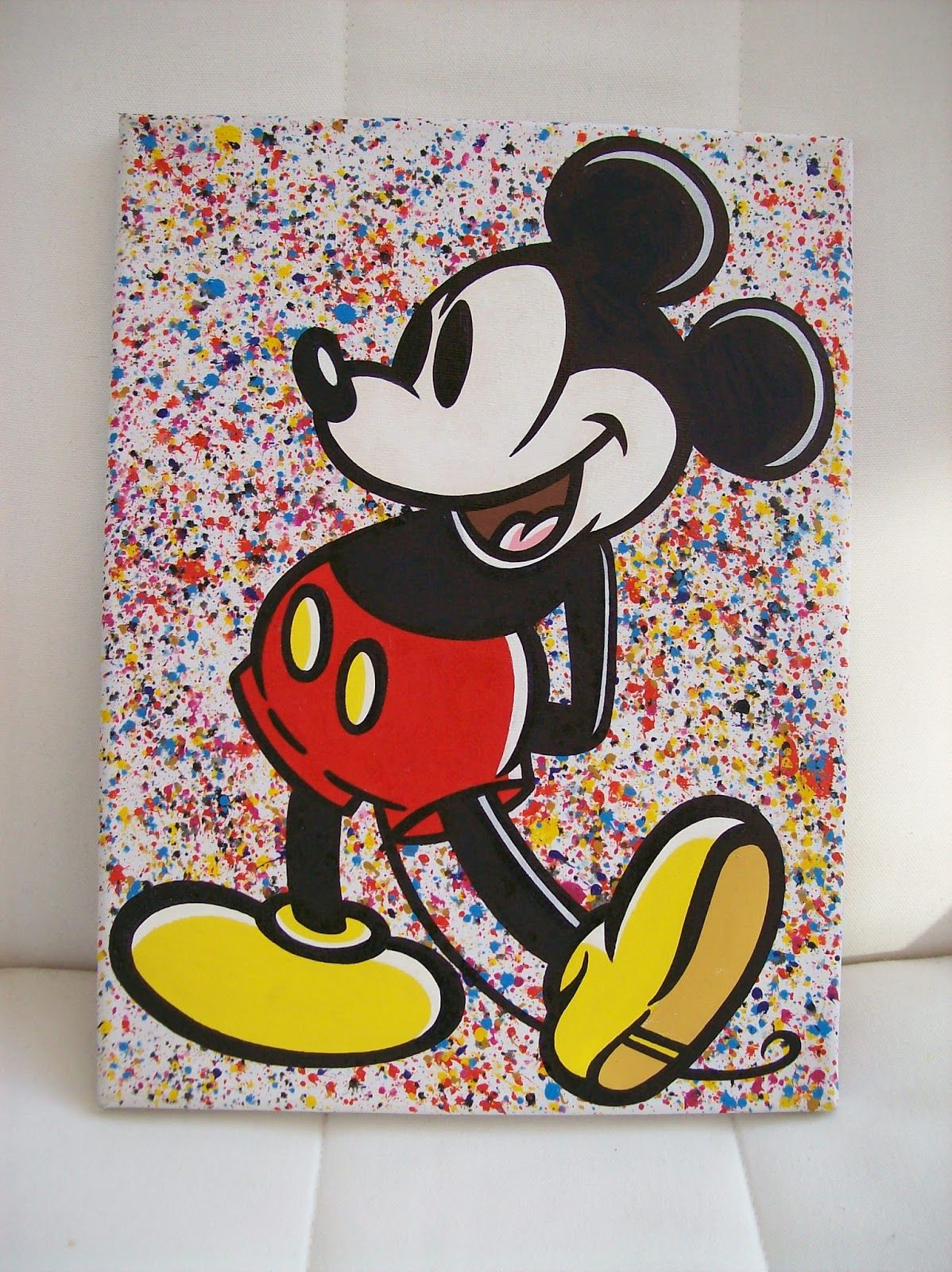 mickey mouse acrylic paintings google search painting. Black Bedroom Furniture Sets. Home Design Ideas