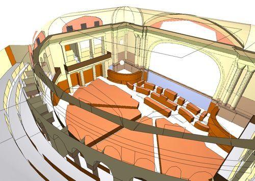 Catt Modeling. Swiss Parliament Building, Bern, Switzerland. (Electro-acoustic Design by WSDG)