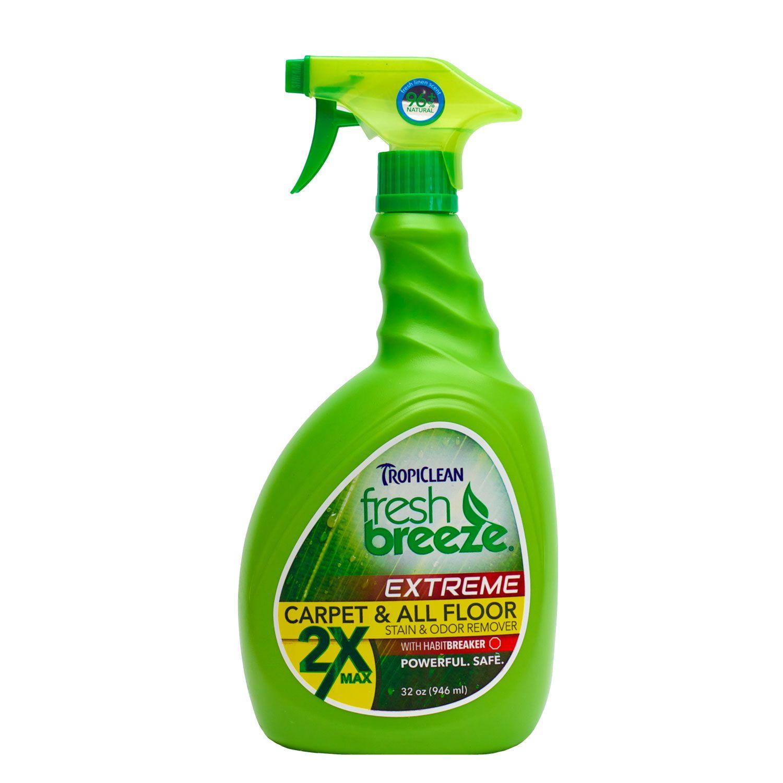 Tropiclean Fresh Breeze Nature S Dog Stain Odor Remover 2x Maximum Strength Tissus Ameublement Hygiene Produits