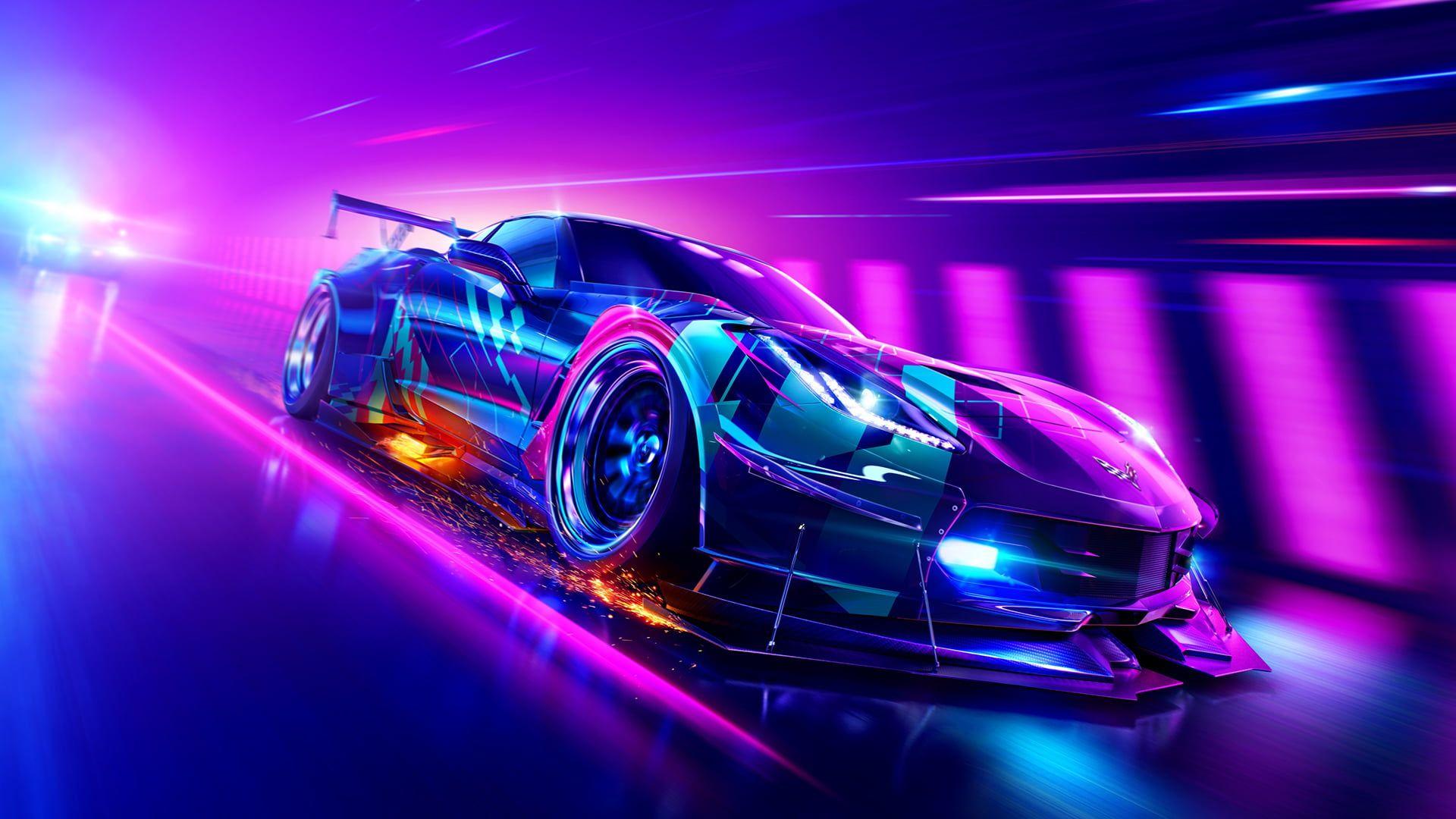 Car Neon Chevrolet Corvette Race Cars 1080p Wallpaper Hdwallpaper Desktop Corvette Grand Sport Need For Speed Car Wallpapers