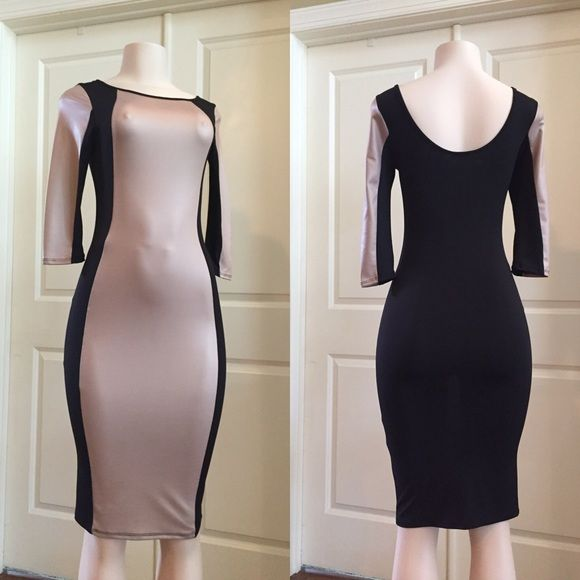 After 5 dress Color block fitted dress Fashion love Dresses Midi