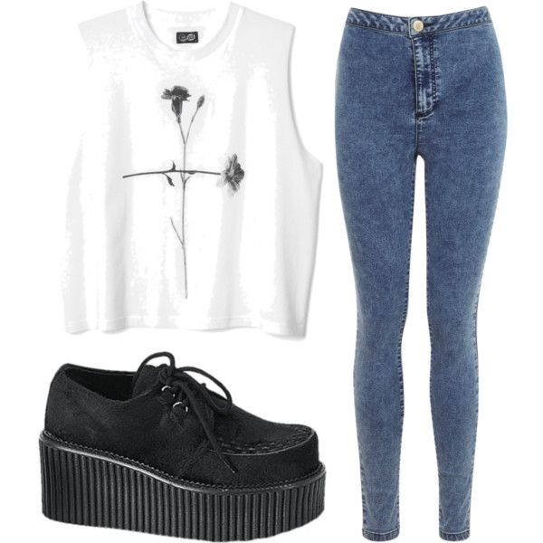 A fashion look from July 2014 featuring Miss Selfridge jeans. Browse and shop related looks.