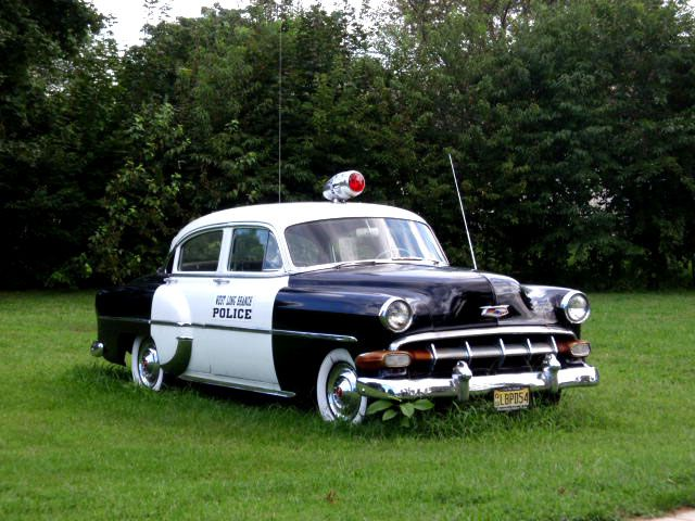it s a 1954 chevy bel air back then there really was no such thing as a police car they took. Black Bedroom Furniture Sets. Home Design Ideas