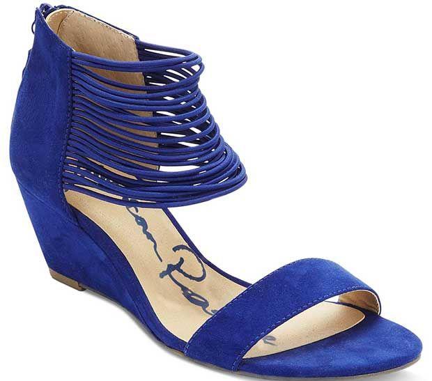 "American Rag ""Carllie"" Demi Wedge Sandals in Blue"