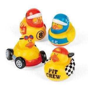 Race Car Themed Baby Shower Race Car Driver Rubber Ducks