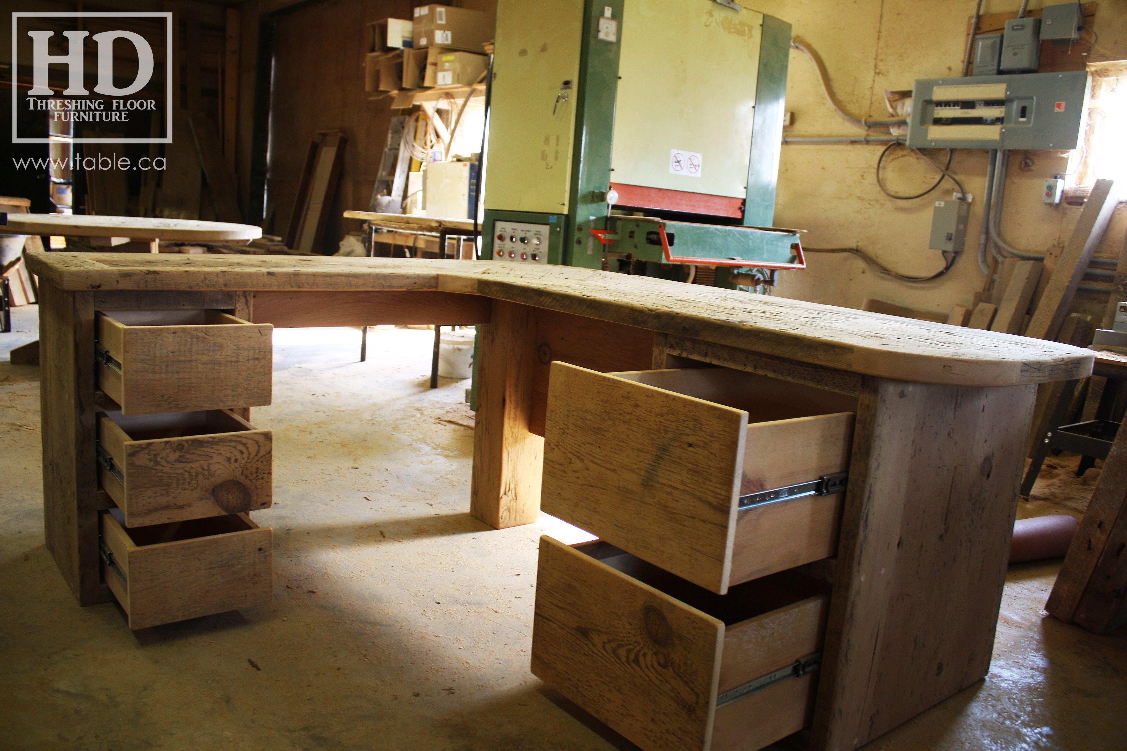 Surprising Reclaimed Wood Desk By Hd Threshing Floor Furniture Of Download Free Architecture Designs Scobabritishbridgeorg