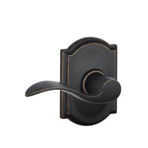 Schlage FE285 PLY 619 ACC LH Plymouth Trim Lower Half Front Entry Handleset with Accent Left Hand Lever Satin Nickel