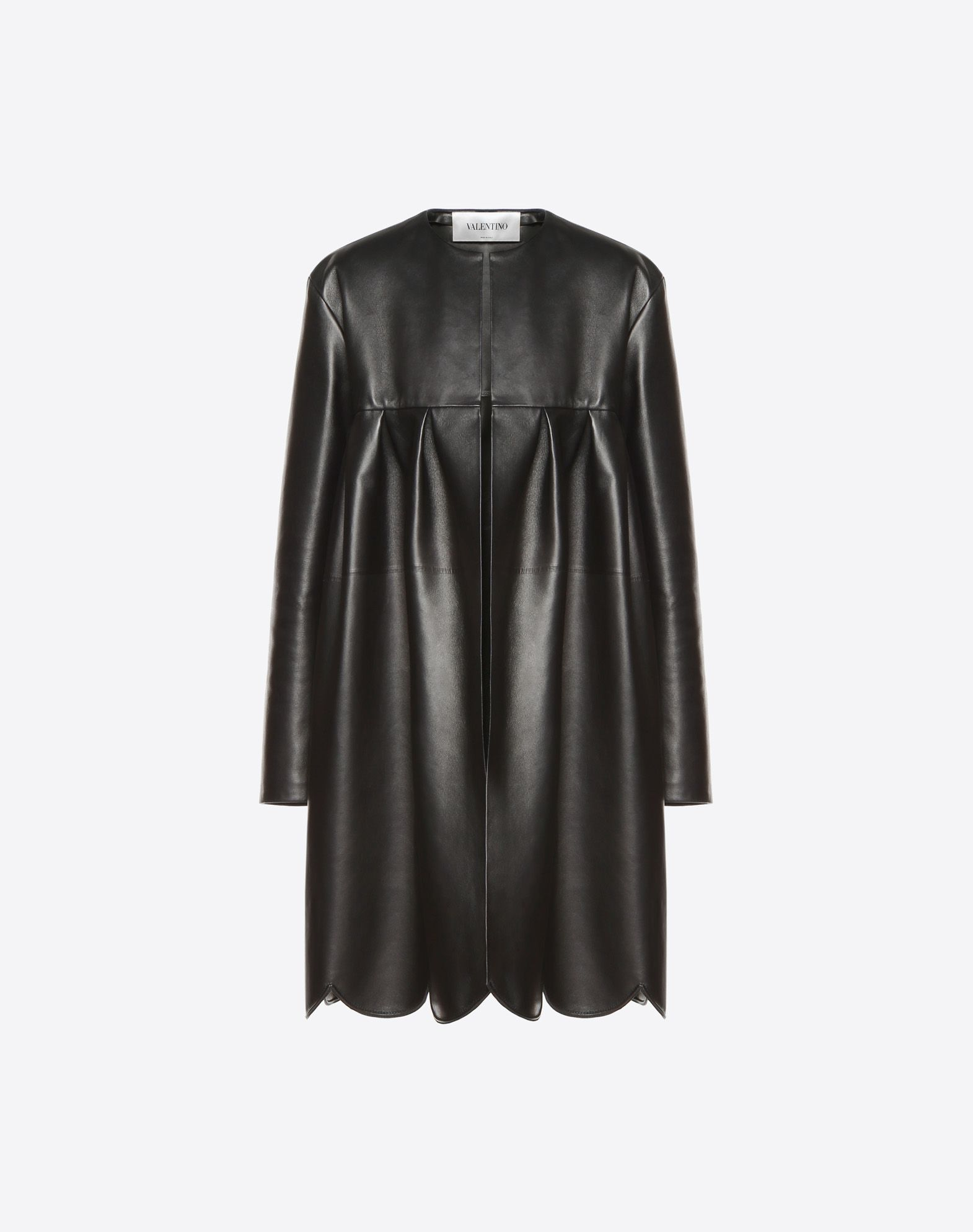quality design 246a9 1c5ef Cappotto scallops in Pelle Donna | Valentino Online Boutique ...