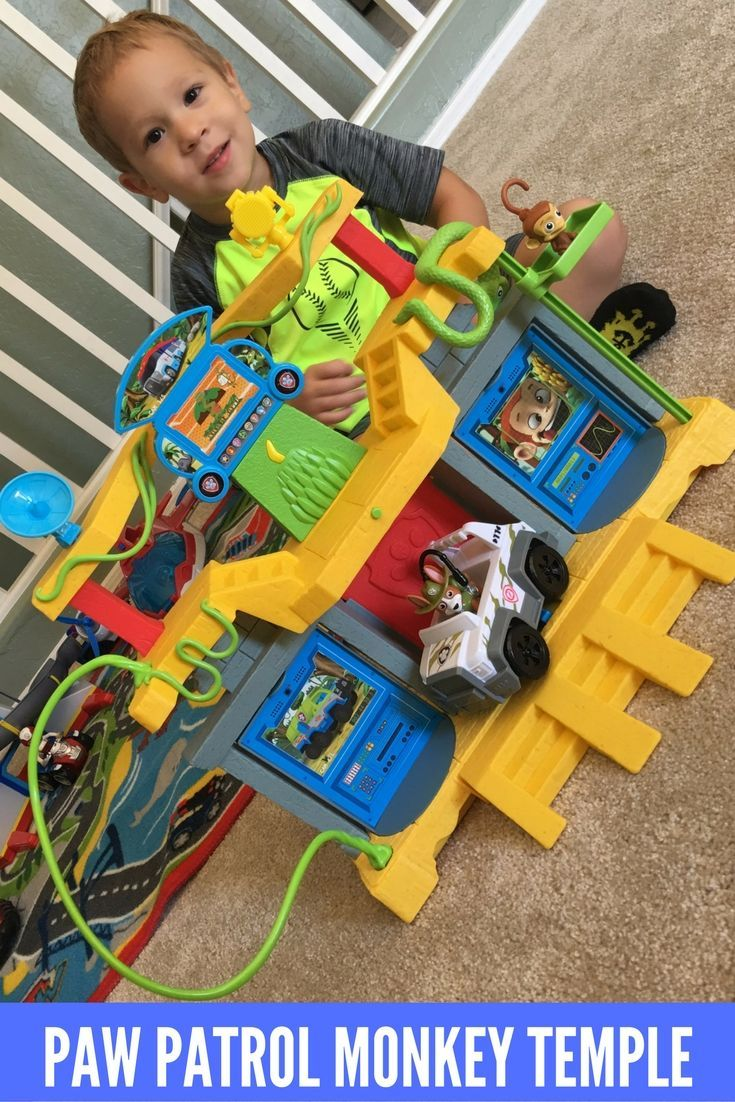 Paw Patrol Jungle Rescue Monkey Temple Playset With