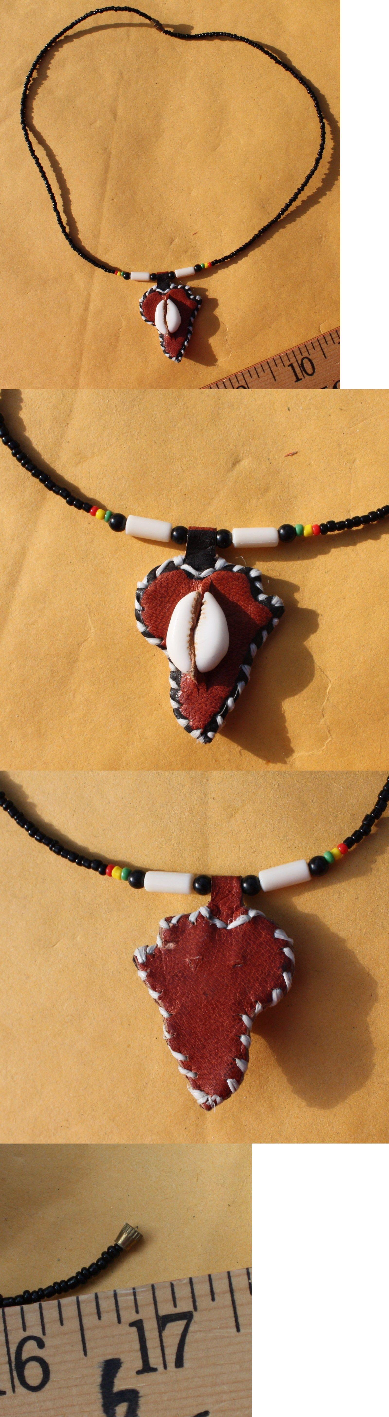 Bracelets 98480: Vintage Kenya Africa Black Bead Shell