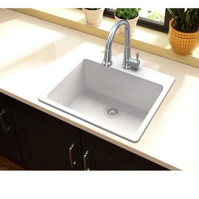 Elkay Quartz Classic 25 L X 22 W Drop In Kitchen Sink Finish