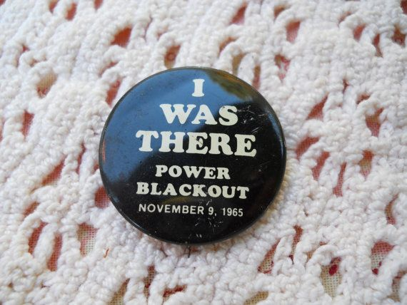 Vintage 1965  I Was There Blackout Button by UncleJimmysAttic