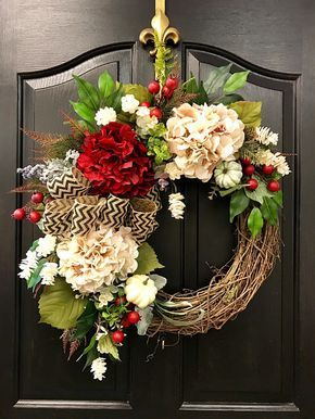 New Fall Wreaths For Front Door Farm House Burlap