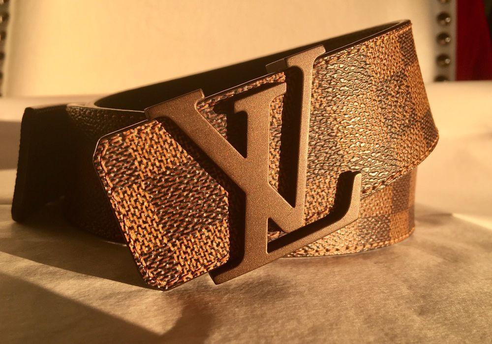 Authentic Louis Vuitton Brown Damier belt Size 42 fashion