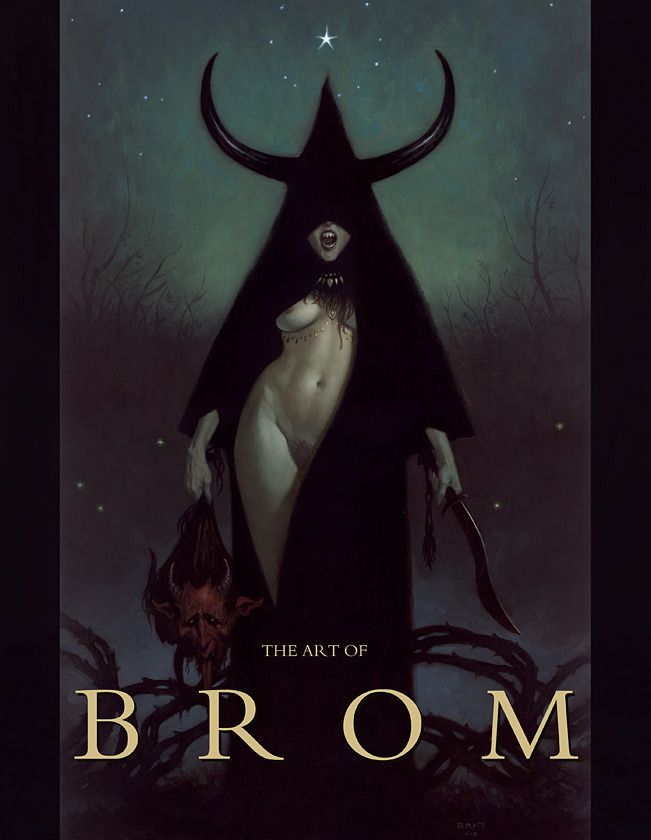 """[MATURE] From the """"Art of Brom"""" Kickstarter campaign that raised over $235,000 and 2000% of the funding goal. Used with permission by Brom in the free interview linked to this pin."""