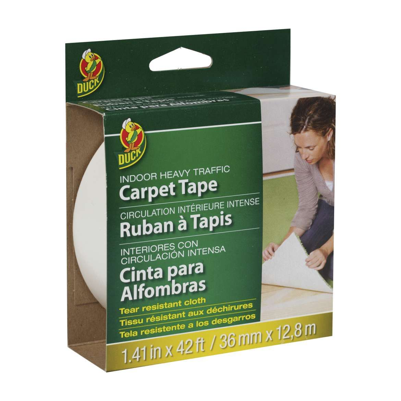 Duck® Brand White Indoor Heavy Traffic Carpet Tape
