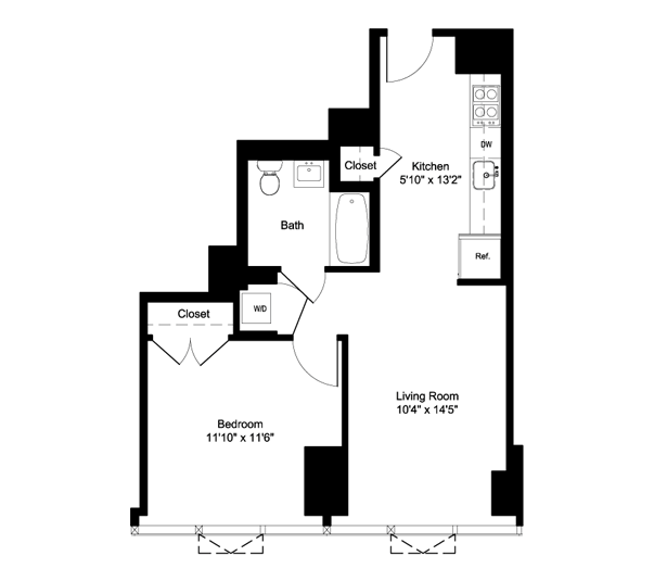 NO BROKER FEE + 1 MONTH FREE FOR 1 BEDROOM APARTMENT In