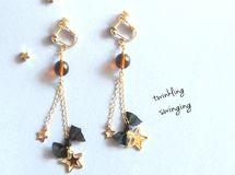 ★★twinkling stars × ribbon earrings★★