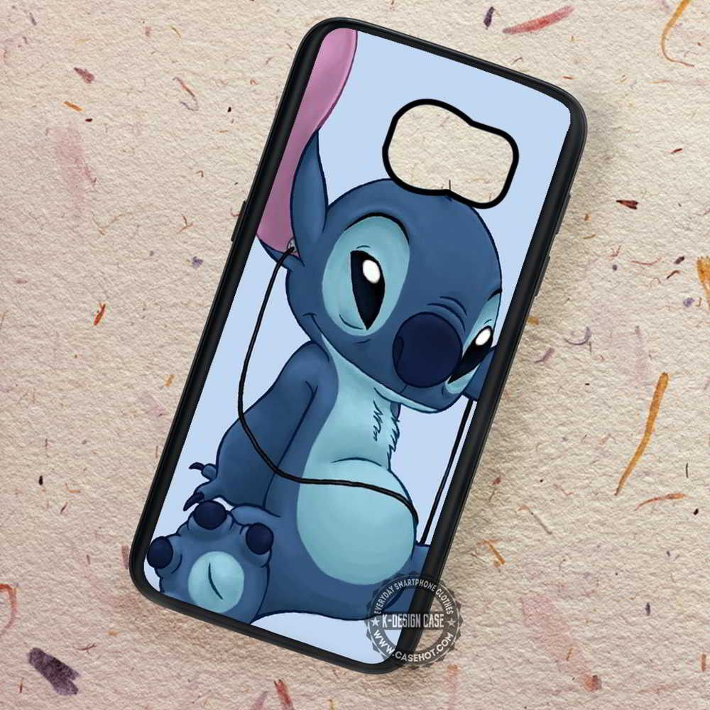 Enjoy Listening To The Music Lilo And Stitch Samsung Galaxy S7 S6 S5 Note 7 Cases Covers Lilo And Stitch Disney Phone Cases Galaxy S6 Phone Cases