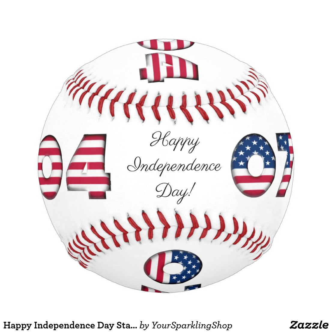 Happy Independence Day Stars And Stripes Usa Baseball Zazzle Com Happy Independence Day Happy Independence Independence Day
