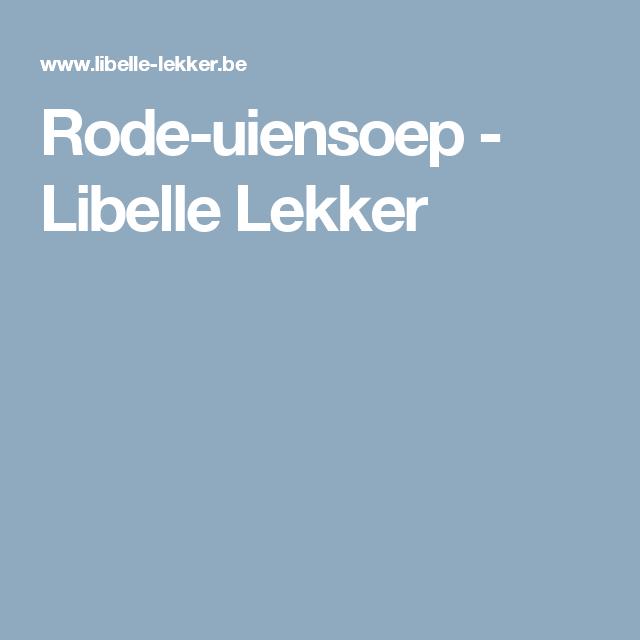 Rode-uiensoep - Libelle Lekker