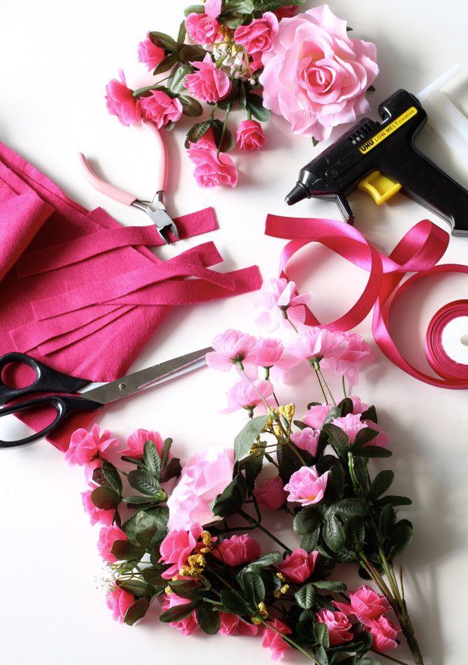 DIY Flowercrown / Do it yourself Blumenhaarband | basteln ...