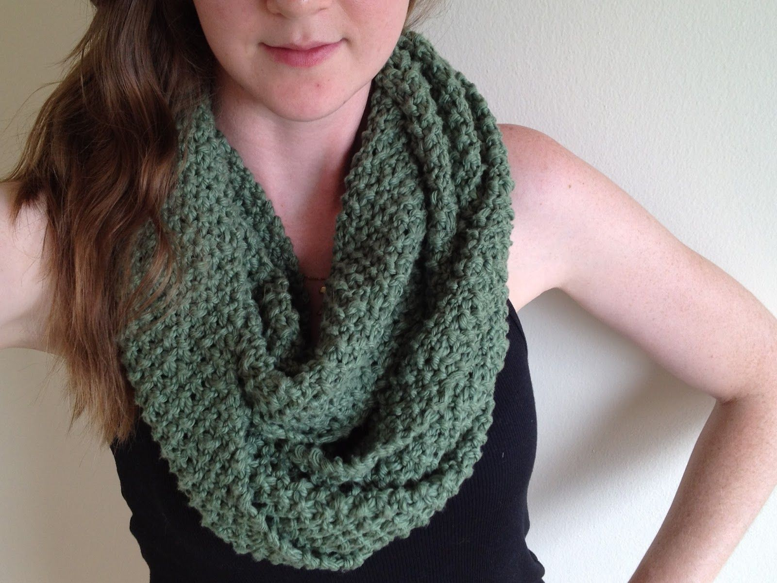 free infinity scarf pattern for beginners | KNITTING | Pinterest ...