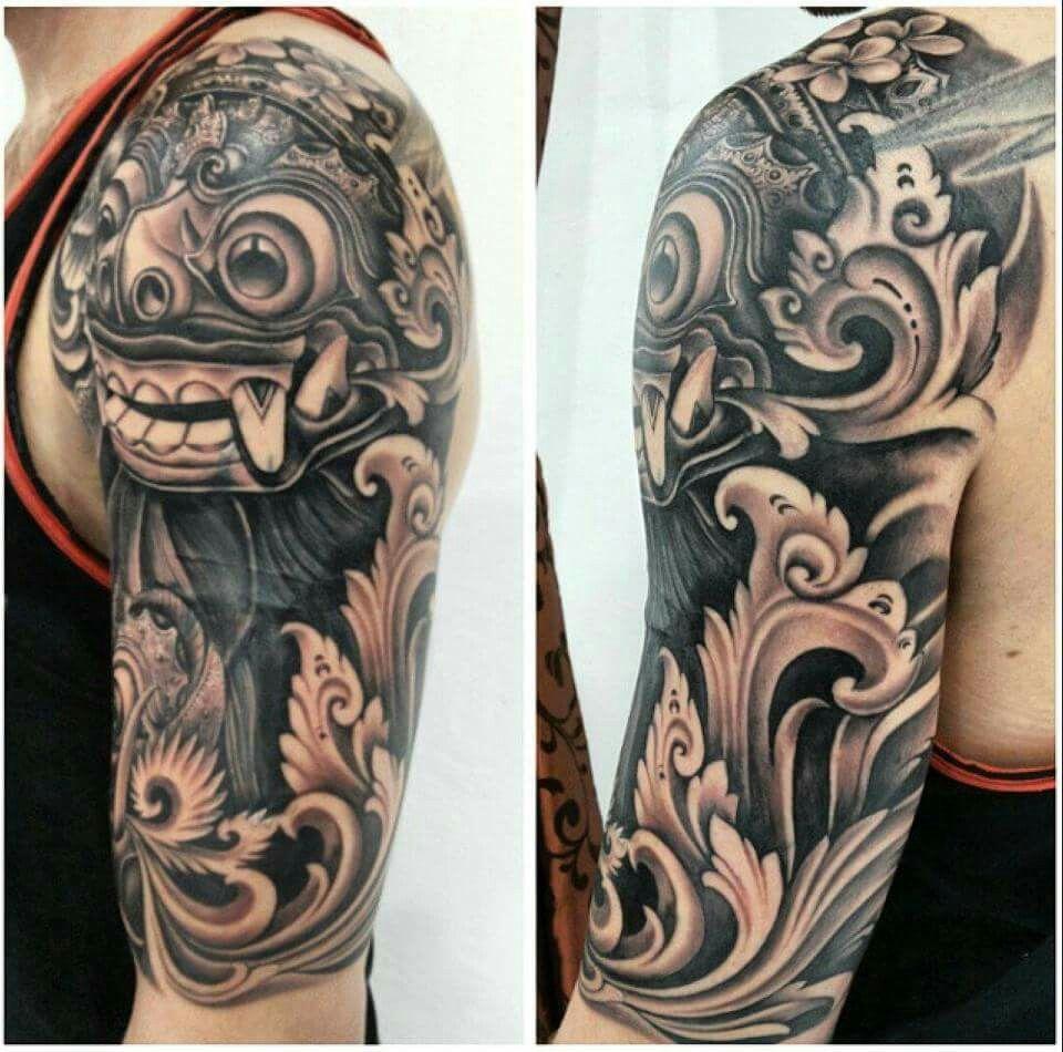 Barong Mask Tattoo Tato Kecil Ide Tato Desain Tato