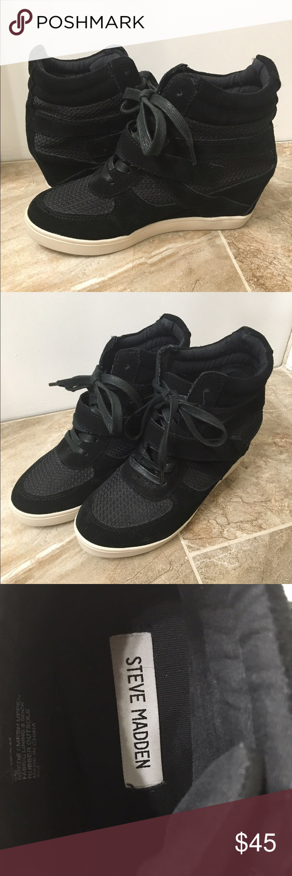 FLASH SALESTEVE MADDEN Wedge Sneakers Steve Madden Olympiaa Wedge Sneakers Never worn outside! Perfect condition! Steve Madden Shoes Sneakers