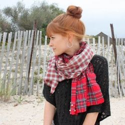 Upcycle your old flannel shirts into this cozy scarf.