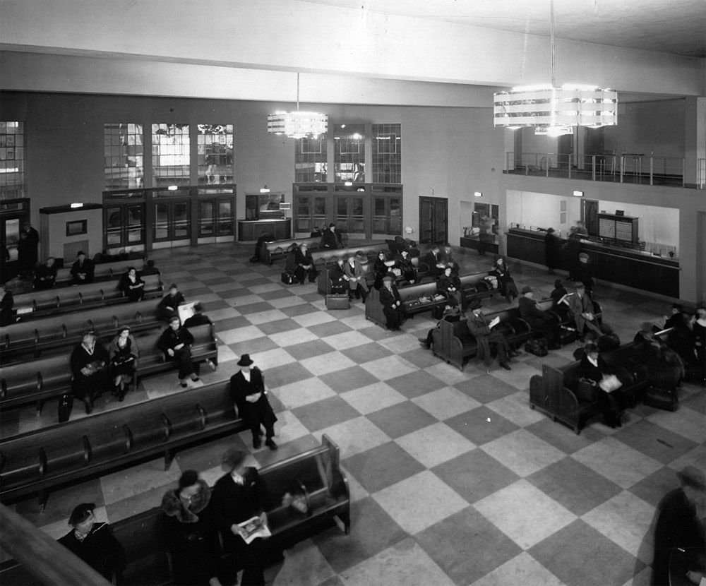 Interior Greyhound Bus Station In The 50 S Mom And I Would Take