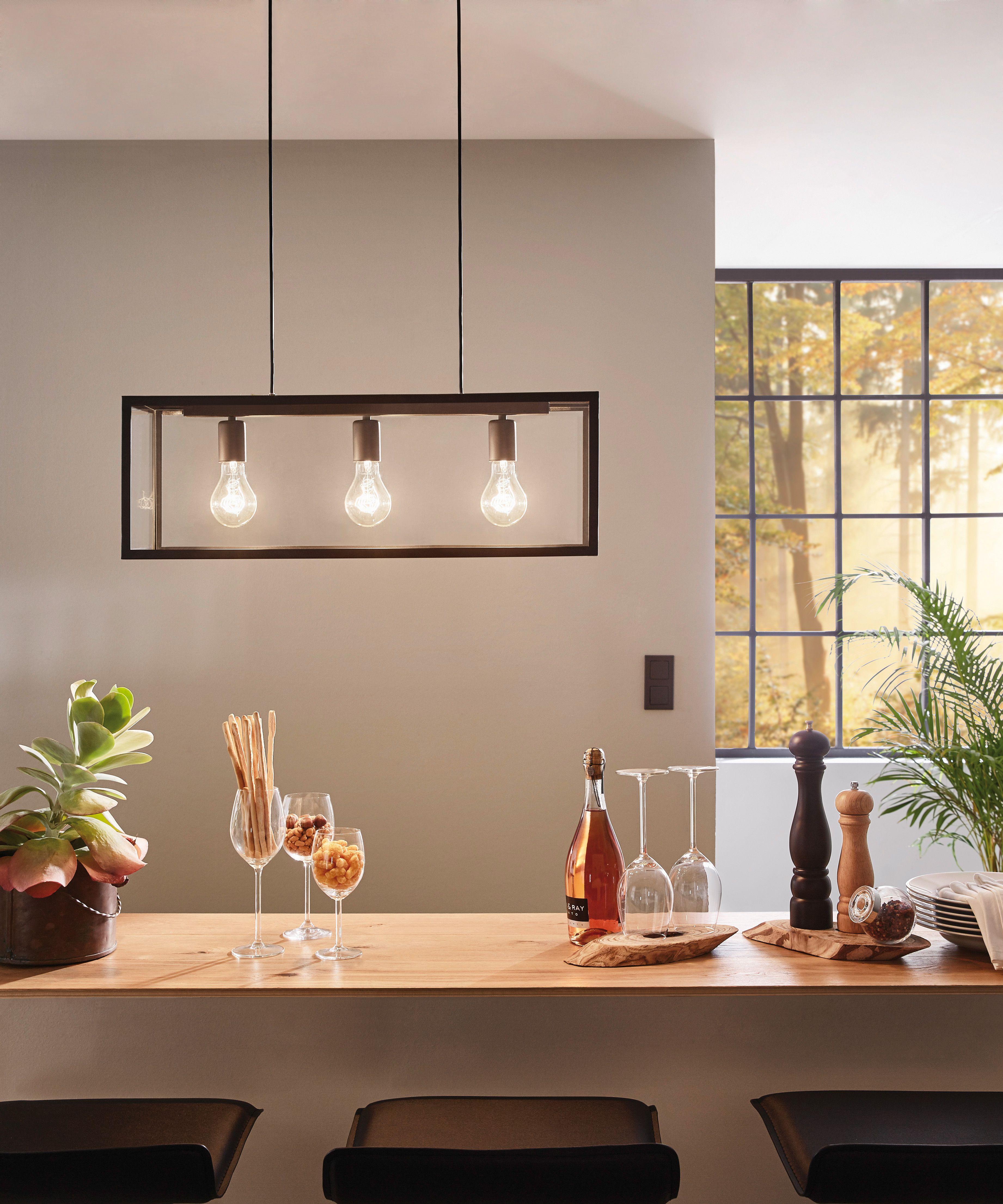 Lampada a sospensione vintage, tre lampadine. | Illuminazione ...