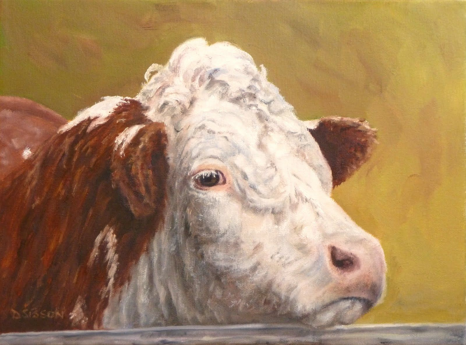 Pictures Of Cow Faces Facedebra Sisson Oil Painting