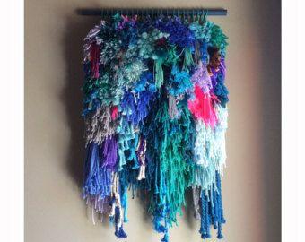 Colgante de pared tejido tejida a mano tapiz tejer por jujujust